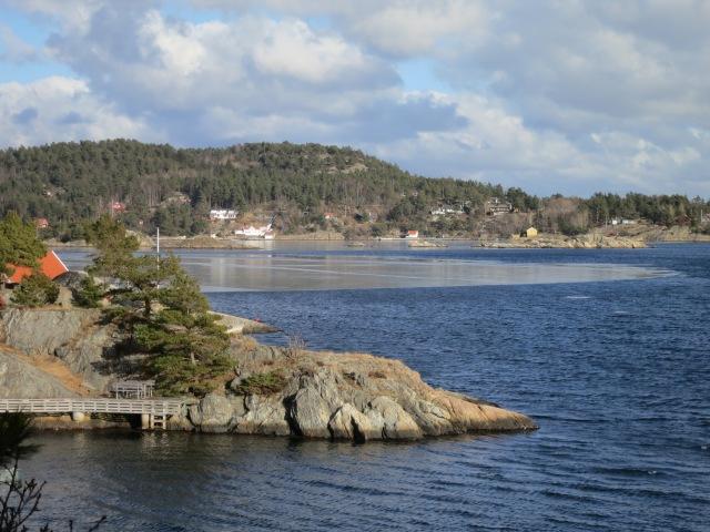 Rønningholmen sett fra hytta.