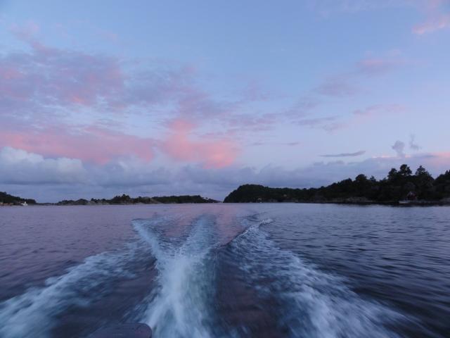 Kveldstur i båten.