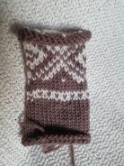 Iphone-sokk etter mariusmønster og eget hode.