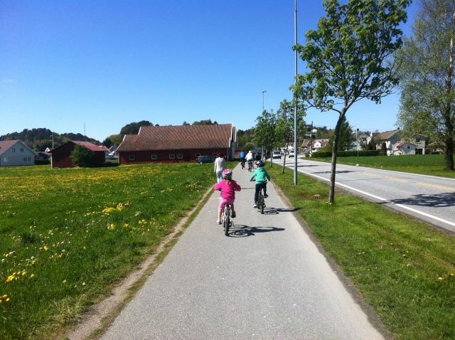 På sykkel i Søgne.